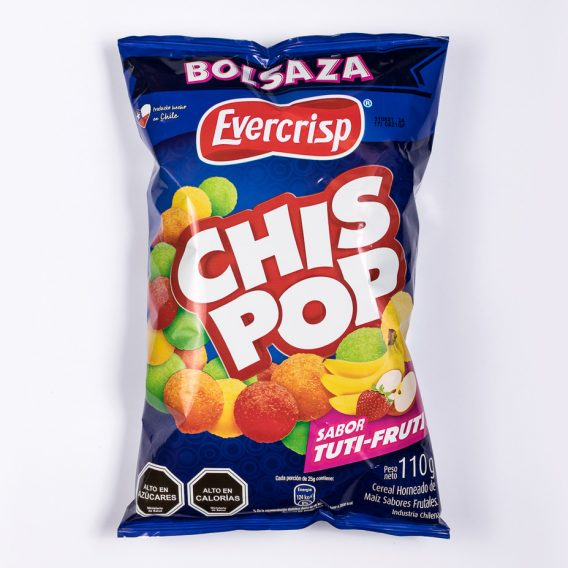 Bolsaza Chis Pop Tutti Frutti 110 grs