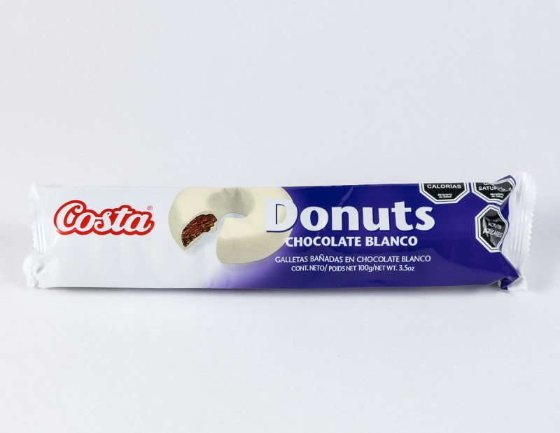 Galleta Donuts Chocolate Blanco 100 grs