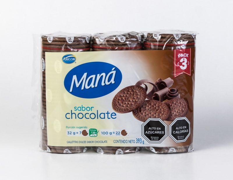Galleta Mana chocolate pack 393 grs